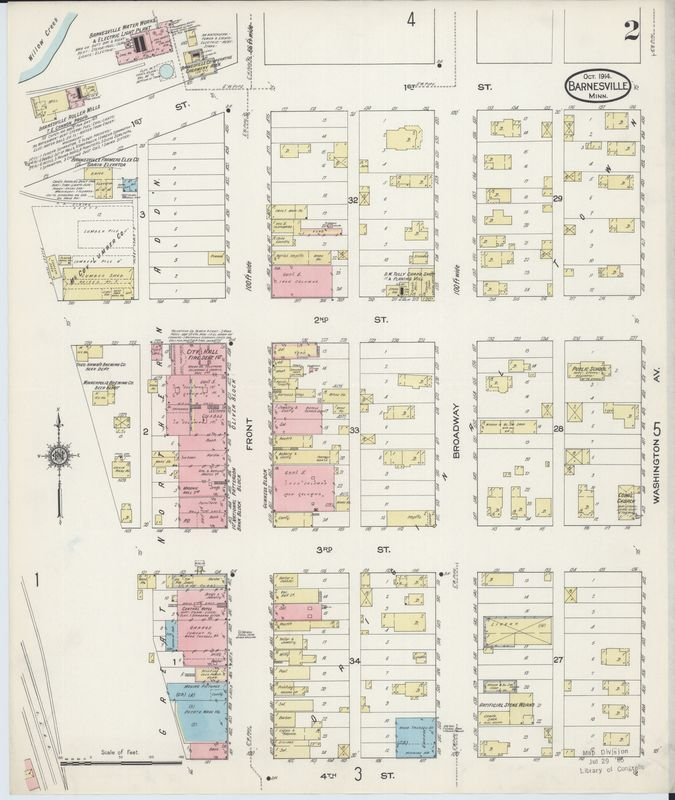 Page 2 1914 Barnesville Fire Insurance Map