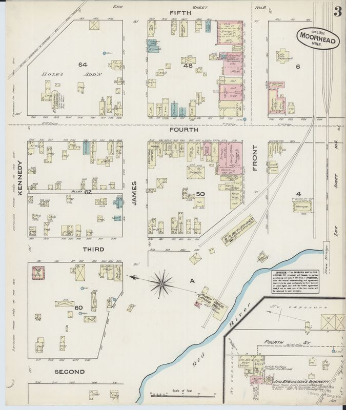 Page 3 of 1884 Moorhead Fire Insurance Map