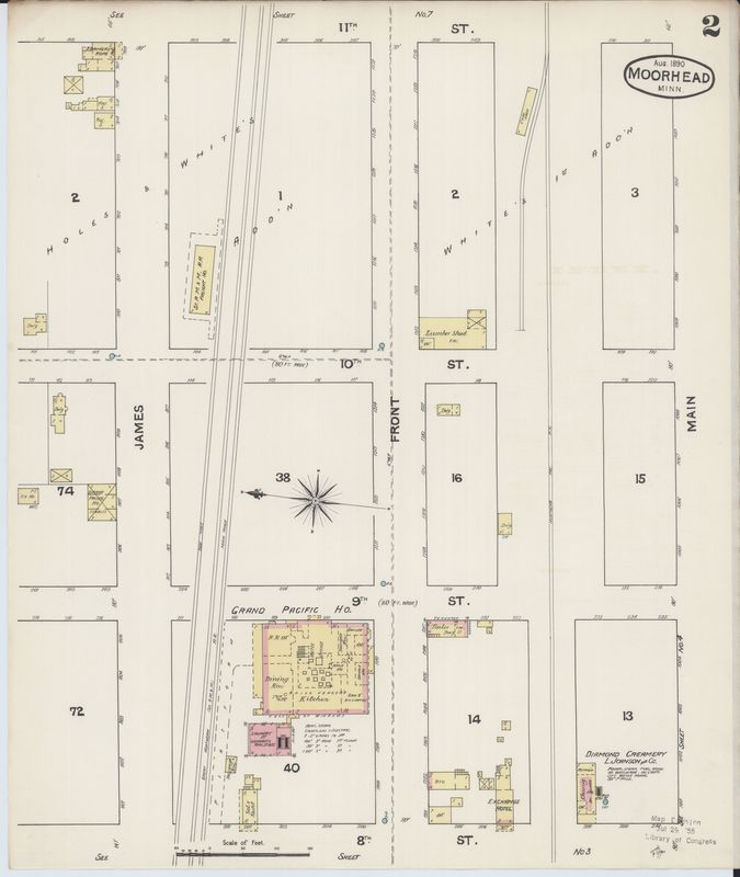 Page 2 of 1890 Fire Insurance Map of Moorhead