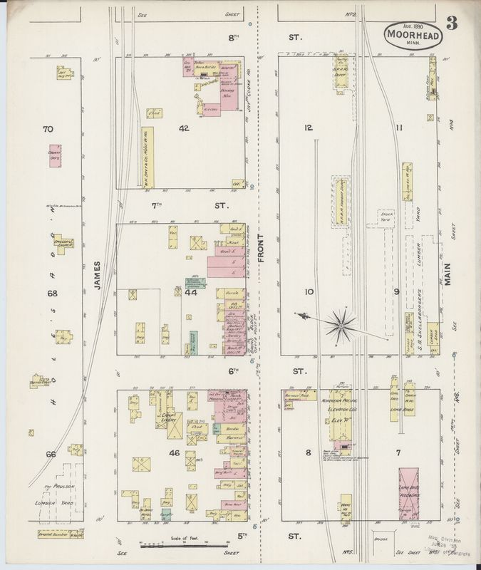 Page 3 of 1890 Fire Insurance Map of Moorhead