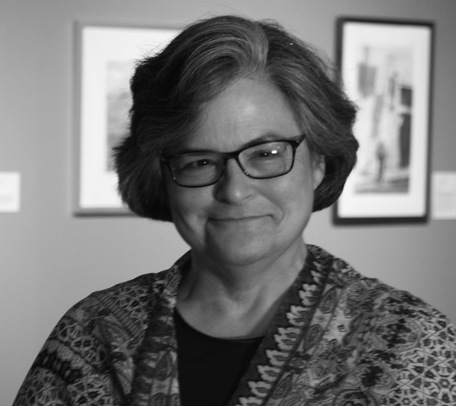 Image: a grayscale photograph of HCSCC executive director Maureen Kelly Jonason.